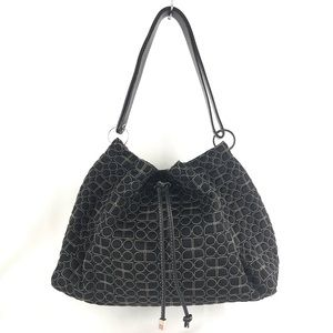 Kate Spade Drawstring Black & White Bucket Purse